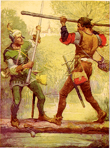Robin Hood and Little John by Louis Rhead 1912
